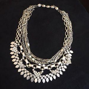 Stella & Dot Sutton Necklace-silver